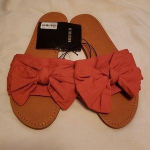 Bow Slip On Sandals
